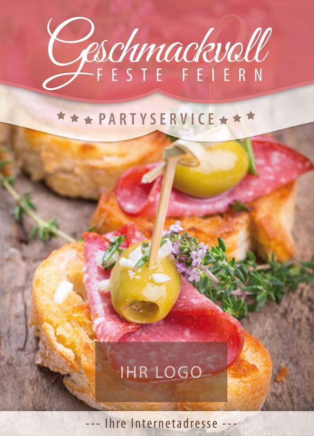 Plakat, Poster-Motiv: Partyservice & Catering